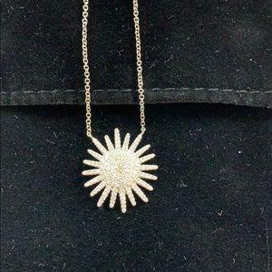 Saks Fifth Avenue diamond sunburst necklace